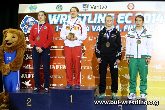 Вики Бобева с бронз на европейското по борба във Финландия